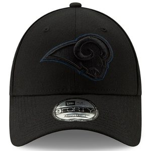 Men's New Era Black Los Angeles Rams Momentum 9FORTY Snapback Hat