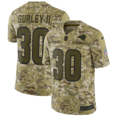 Men's Nike Todd Gurley II Camo Los Angeles Rams Salute to Service Jersey