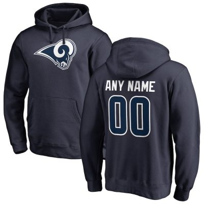 Men's NFL Pro Line Navy Los Angeles Rams Personalized Pullover Hoodie