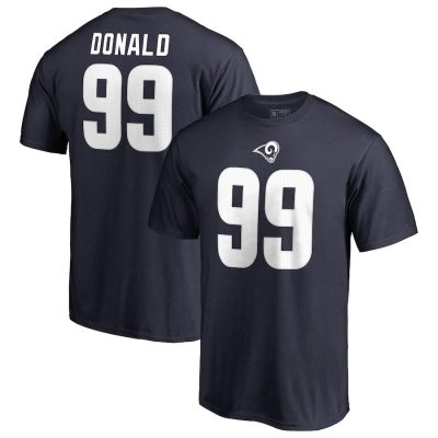 Men's NFL Pro Line by Fanatics Branded Aaron Donald Navy Los Angeles Rams T-Shirt