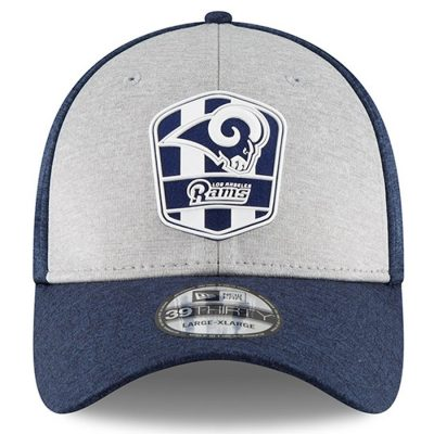 Men's New Era Heather Los Angeles Rams 2018 Official 39THIRTY Flex Hat