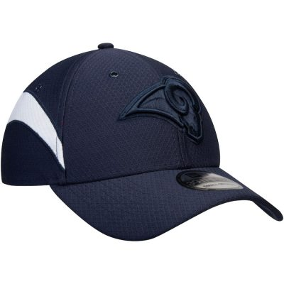 Men's New Era Navy Los Angeles Rams Kickoff Reverse 39THIRTY Flex Hat