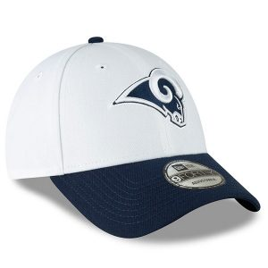Men's New Era White/Navy Los Angeles Rams The League Two-Tone 9FORTY Adjustable Hat